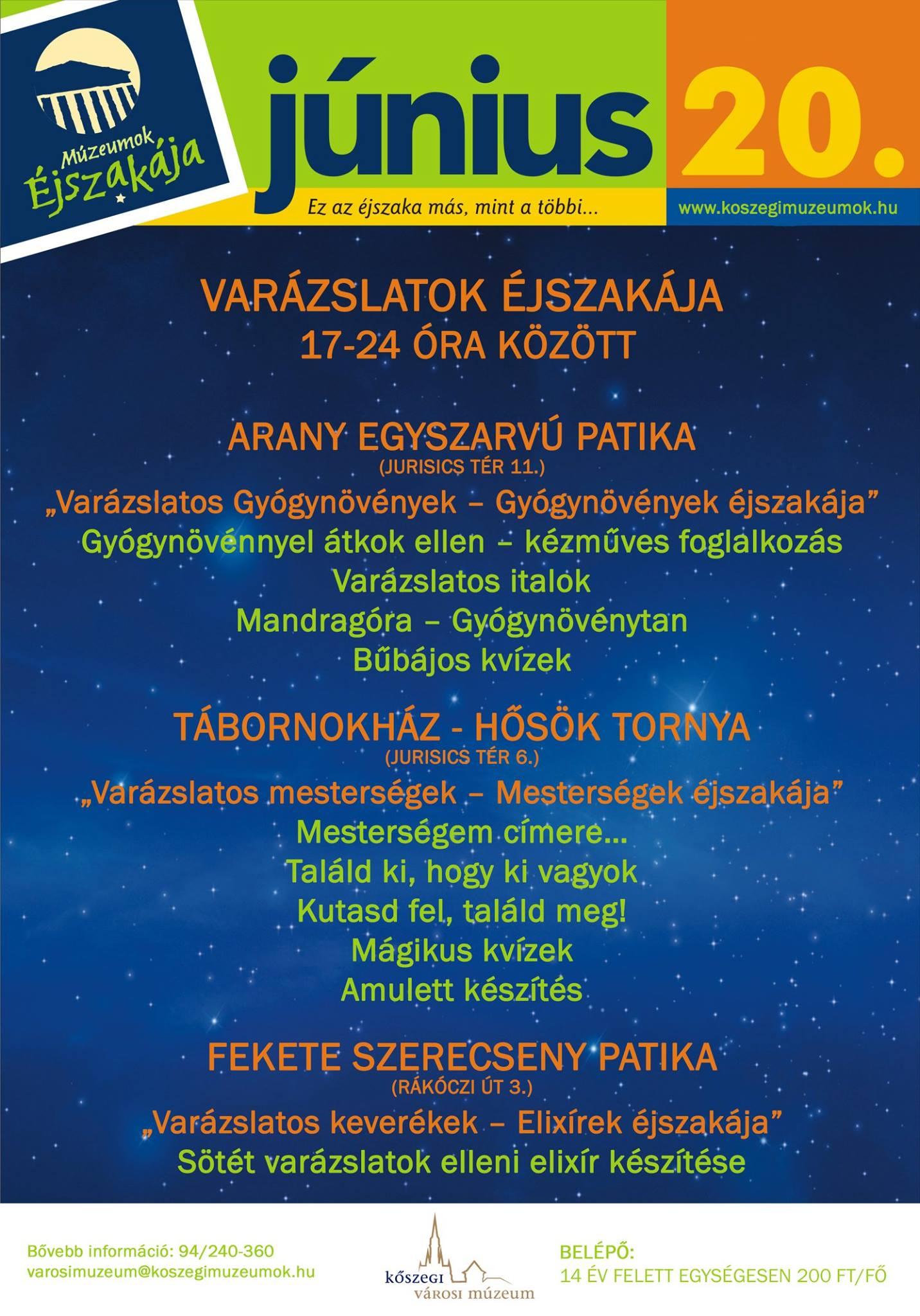 Múzeumok éjszakáka program